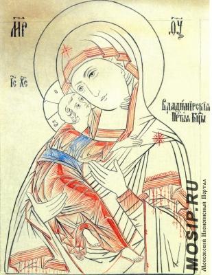 Образ Пресвятой Богородицы Владимирской