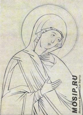 Образ Пресвятой Богородицы из деисусного чина